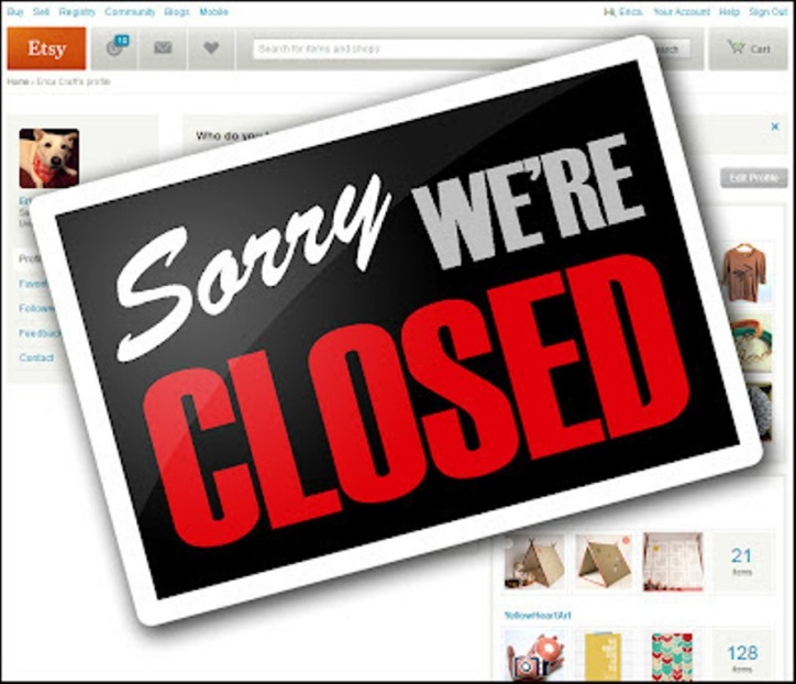 ETSY Sorry We're Closed