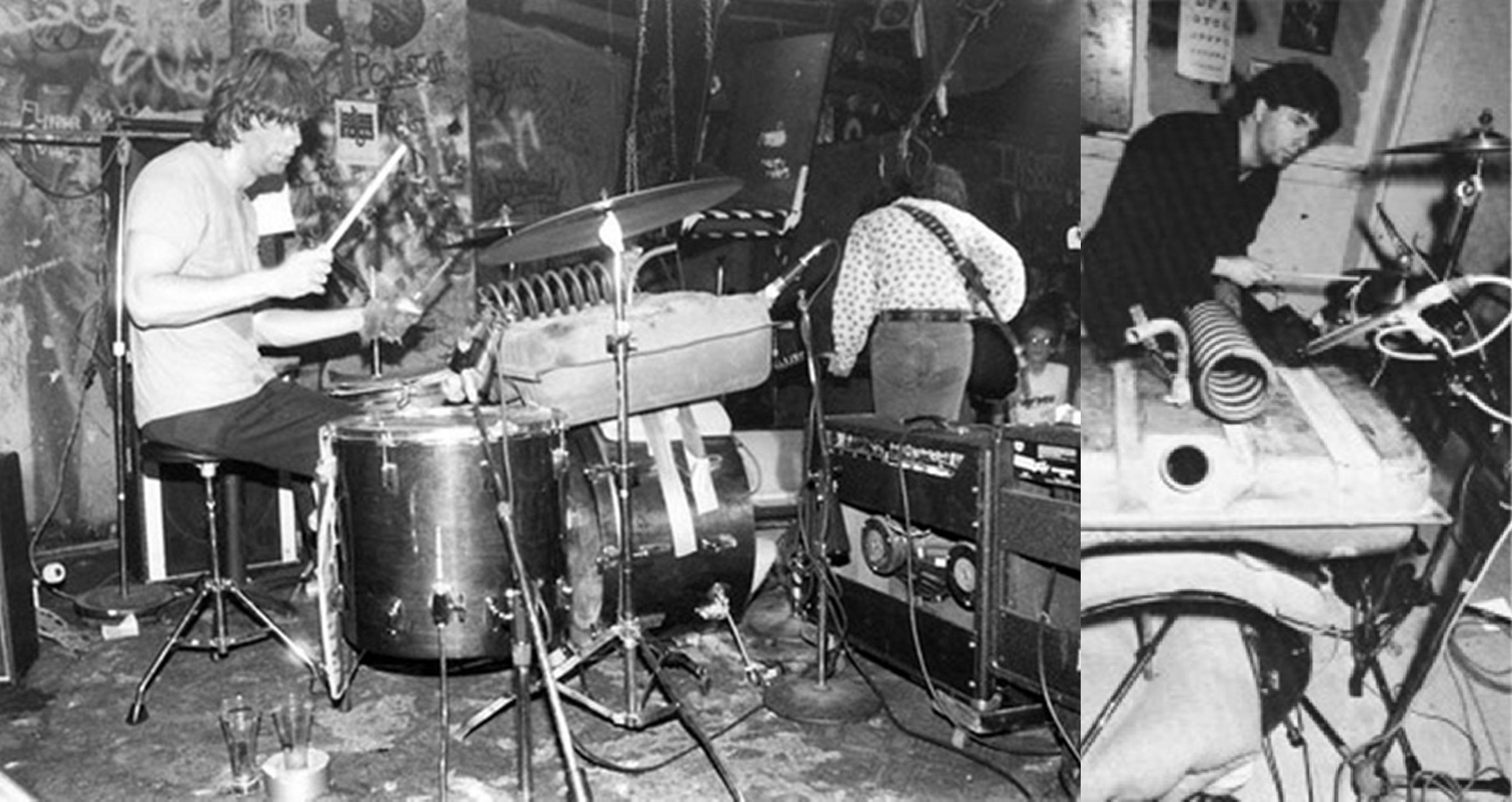 Pussy Galore Bob Bert At Drum Kit