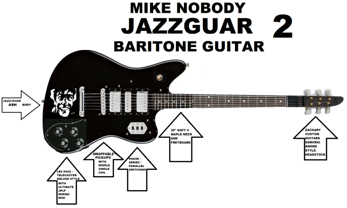 NegativeM+ Mike Nobody Jazzguar Baritone Guitar 2